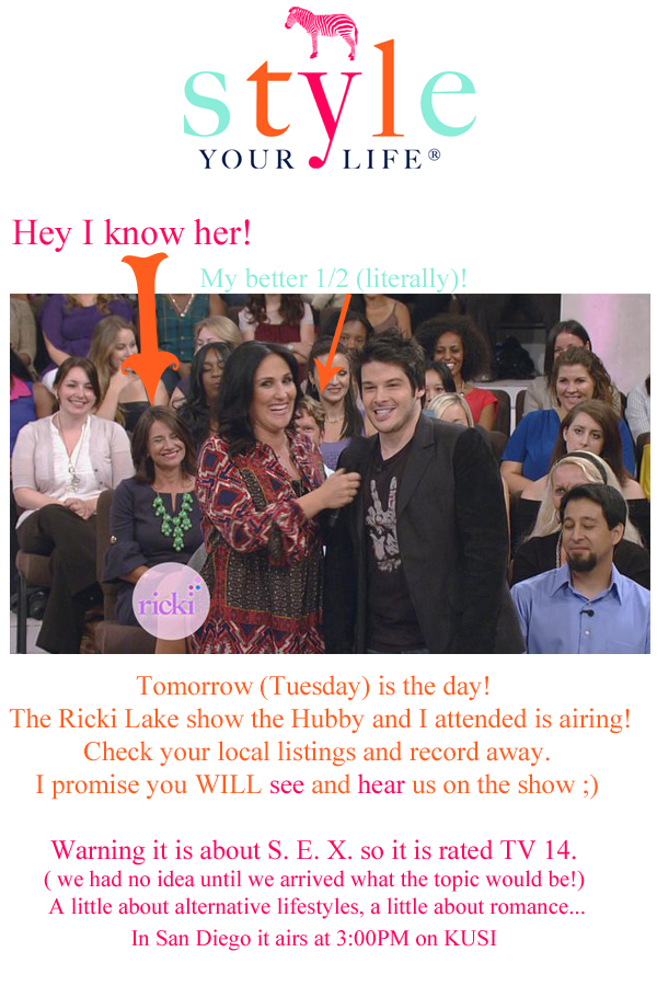 Let's Talk About, the Ricki Lake Show….