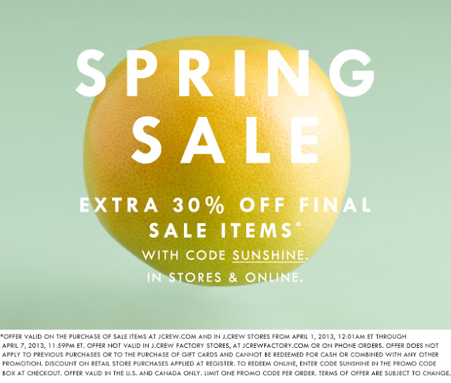 Daily Deal: J.Crew 30% off