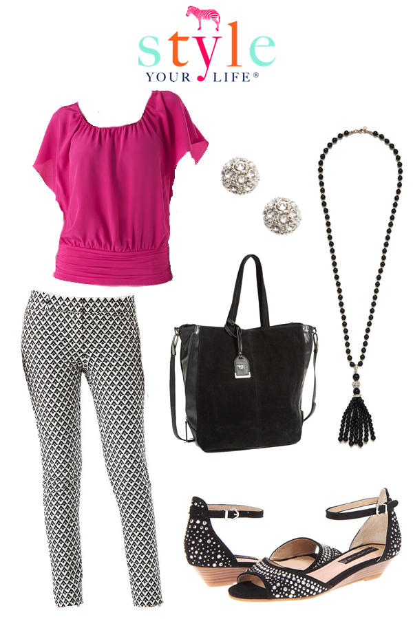 Virtual Outift: Black and White with a POP