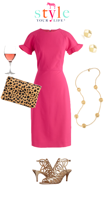Pink Dress Cocktail Hour